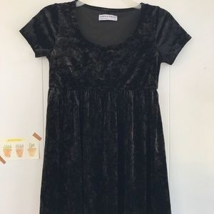 american apparel velvet babydoll dress